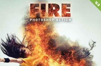 Fire Photoshop Action V.3 19515004 4