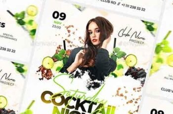 Cocktail Night Flyer 22791316 4