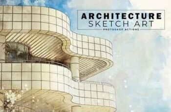 Architecture Sketch Art PS Actions 3089081 3