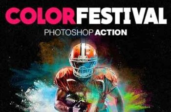 Color Festival Photoshop Action - Dust Effect 19250033 4