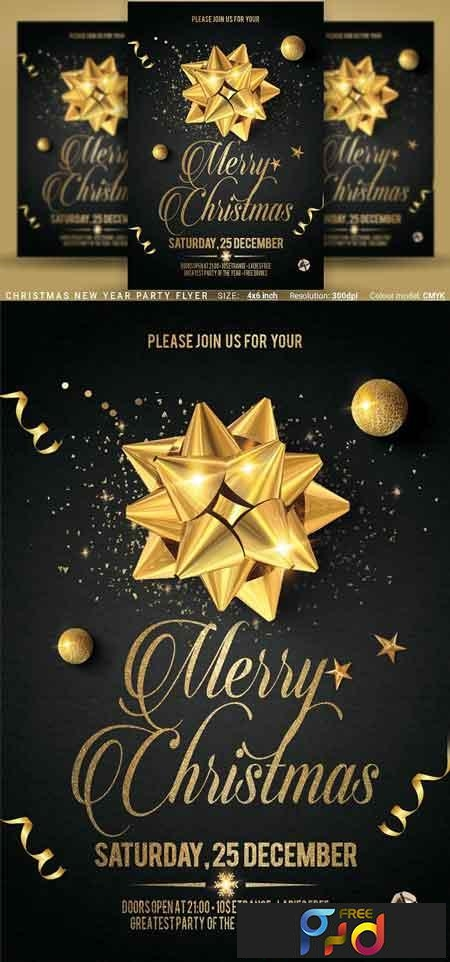 Christmas New Year Party Flyer 3125031 1