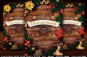 Christmas New Year Party Flyer 3108250 2