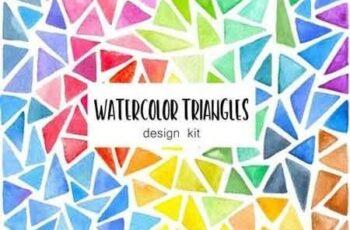 Watercolor Triangles Design Kit 3134472 3