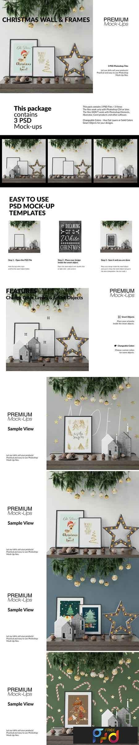 Christmas Frames & Wall Set 3092403 1