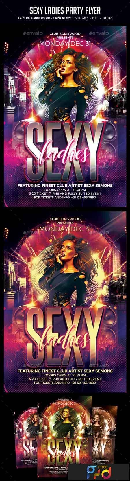 Sexy Ladies Party Flyer 22757843 1