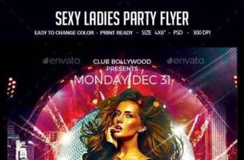 Sexy Ladies Party Flyer 22757843 5