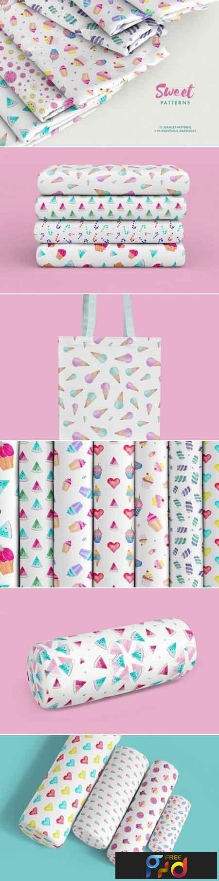 Watercolor Sweet Patterns 3477781 1