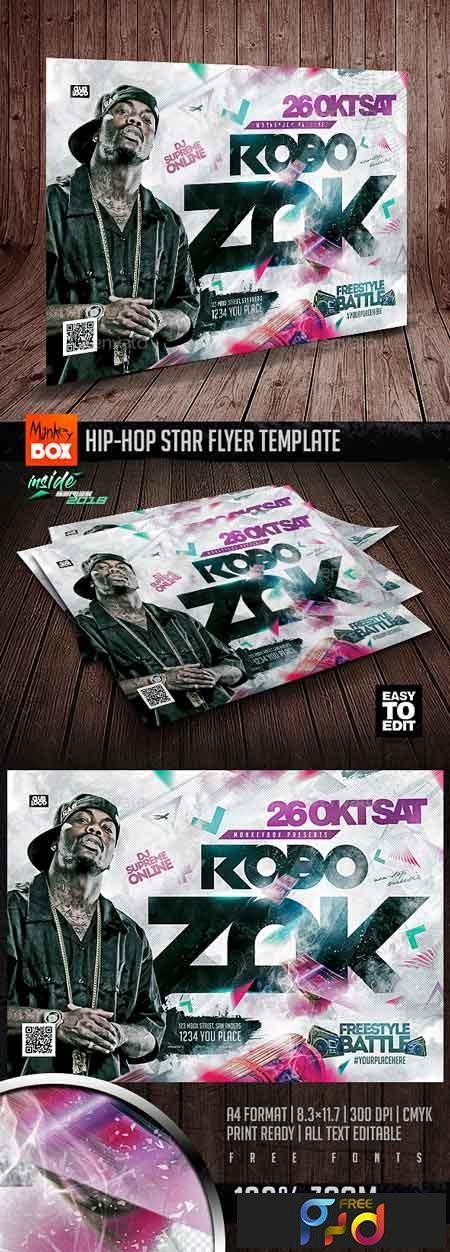 Hip-Hop Star Flyer Template 22730584 1