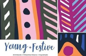 Young Festive Artboards + Patterns 2664553 7