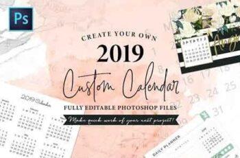 2019 Fully Editable Calendar Kit 2737382 3