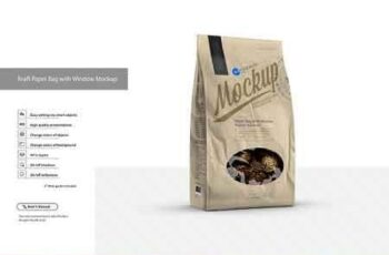 Kraft Paper Bag with Window Mockup 3158882 4