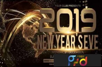 New Year Christmas Party Flyer 3505098 3