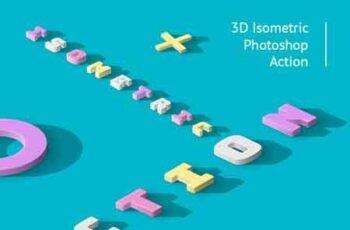 3D Isometric Photoshop Action 22609651 14