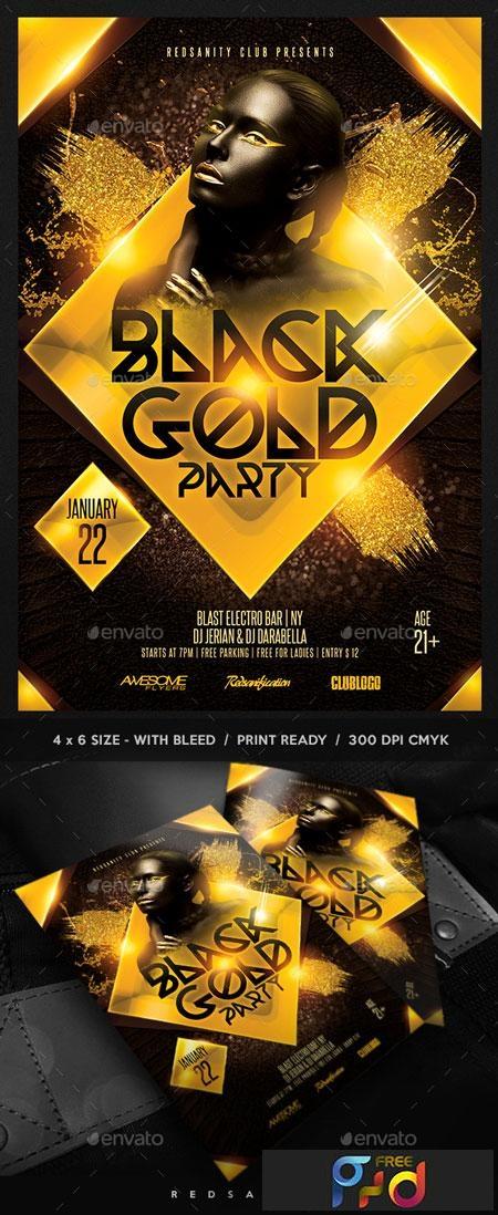 Black Gold Party Flyer 22751520 1