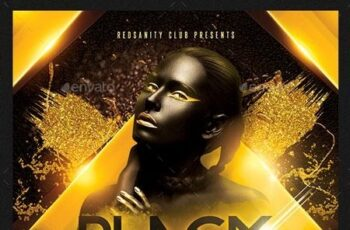 Black Gold Party Flyer 22751520 2