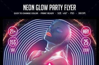 Neon Glow Party Flyer 22751389 10