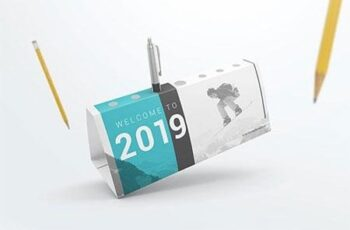 Desk Calendar Pen Holder Mockup 625JYT 3