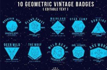 Geometric Vintage Badges (Editable text) SGCWFD 4