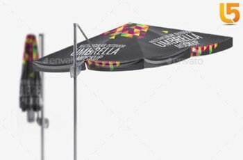 Rectangular Outdoor Umbrella Mock-Up 22834268 6
