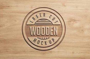 Logo Mock Ups Wood Set 1438552 3