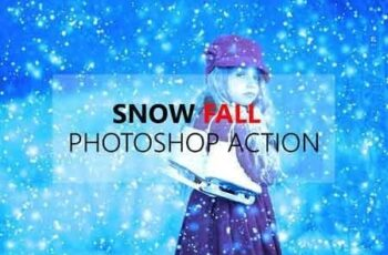 Winter Snow Fall Photoshop Action 3158433 6
