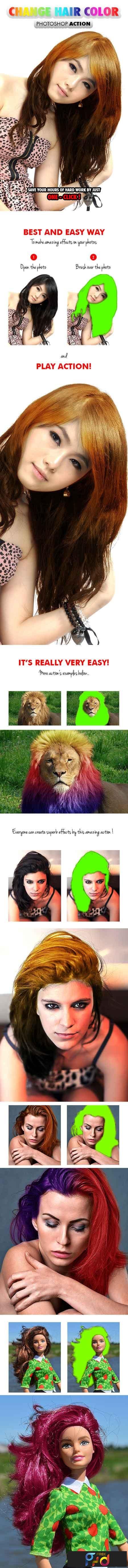 Change Hair Color - Photoshop Action 17682735 1
