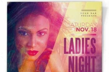 Ladies Night Flyer Template 22735098 5