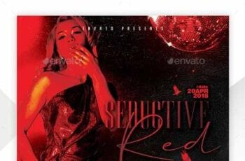 Seductive Red Flyer Template 22759119 6