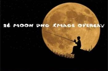 26 moon Photo Overlays in PNG, Photography 3500964 4