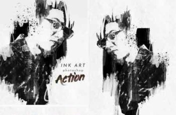 Ink Art Photoshop Action 22877053 2