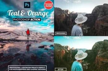 30 Orange and Teal - Photoshop Actions 22857140 4