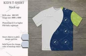 Kids t-shirt mockup 3055588 4