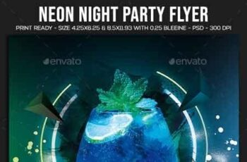 Neon Night Party Flyer 22760725 5