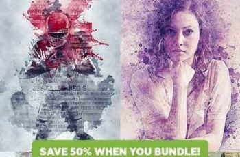 Artistic 4in1 Photoshop Actions Bundle 21308151 6