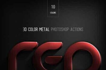 3D Color Metal - PS Actions 22968543 1