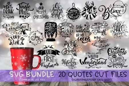 Christmas Quotes Svg.Christmas Quotes Svg Bundle 535971 Freepsdvn
