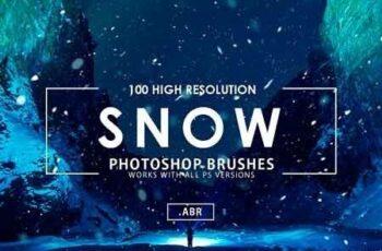 100 Snow Photoshop Brushes 3071605 6