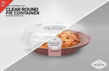 Clear Pie Container Packaging Mockup 3170139 5