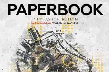 Paper Book Photoshop Action 22892555 3