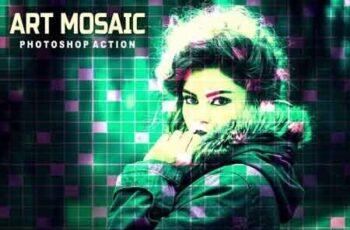 Art Mosaic Photoshop Action 3512589 3