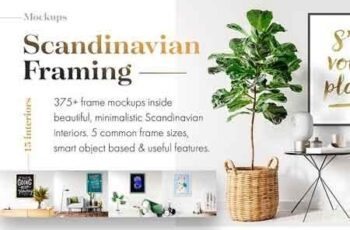 375+ Mockups ‒ Scandinavian Framing 3177014 5
