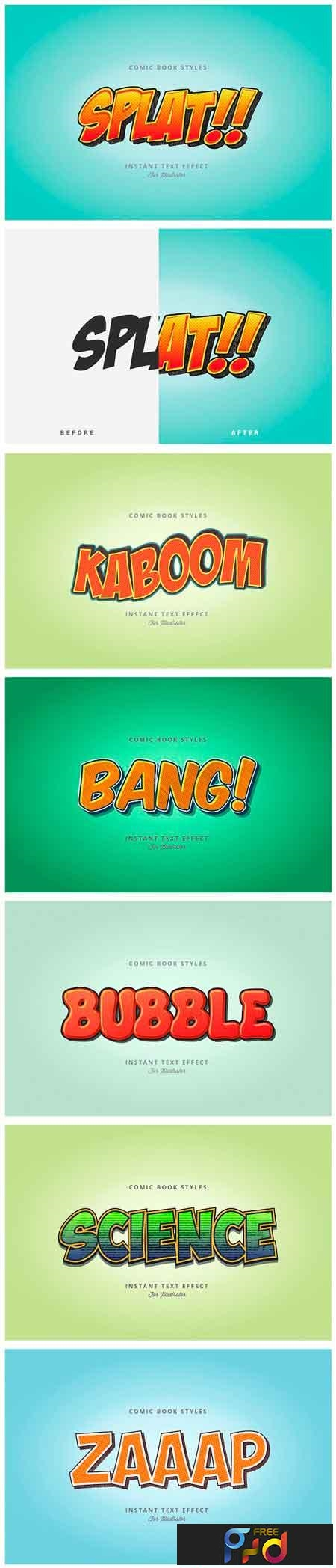 Comic and Cartoon Text Effects (AI) 2949559 - FreePSDvn
