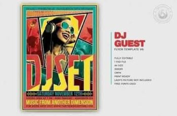 DJ Guest Flyer Template V6 320127 10