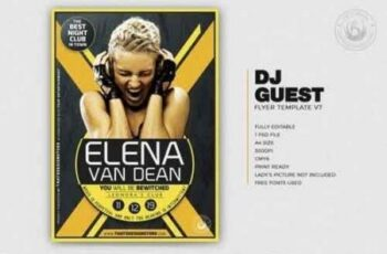 DJ Guest Flyer Template V7 3504698 9