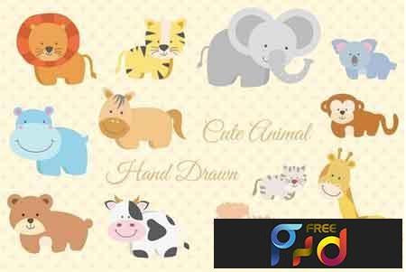 12 Animal Hand Drawn 2619077 1