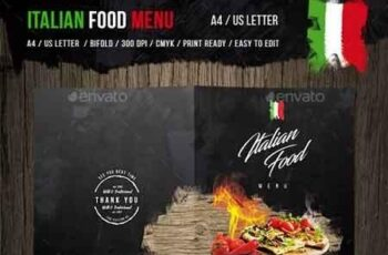 Italian Food Menu - A4 and US Letter 19981197 6