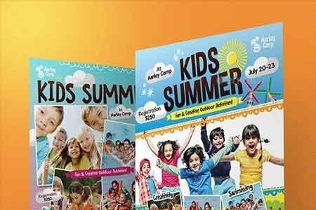 Kids Summer Camp Flyers Magazine Ad 11903465 Freepsdvn