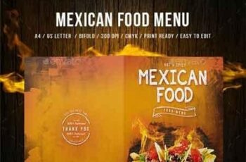 Mexican A4 and US Letter Food Menu 20000112 7