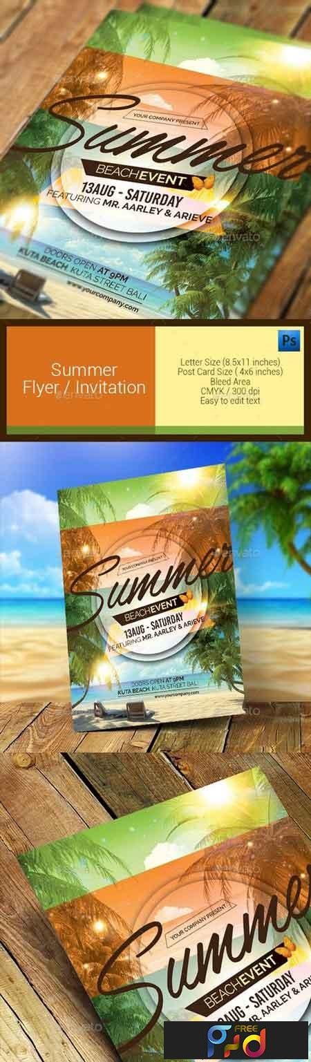 Summer Event Flyer Invitation 11286637 1