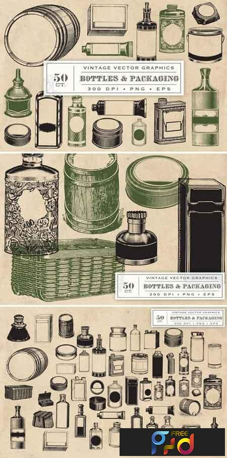 Vintage Bottles & Packaging Graphics 1327349 1
